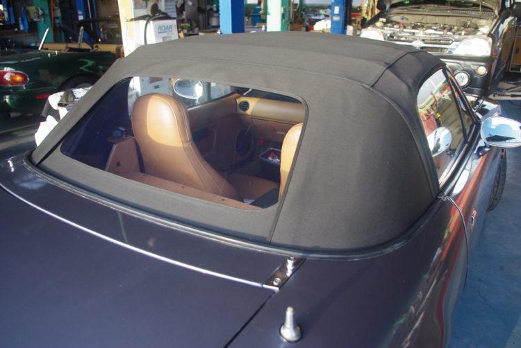 マルハオリジナル幌 GB幌 アクリル窓・シーム付・ブラック