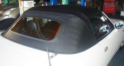 マルハオリジナル幌 GD幌 ガラス窓・シーム付・ブラック