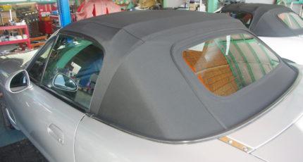 マルハオリジナル幌 GE幌 ガラス窓・シーム付・ブラック